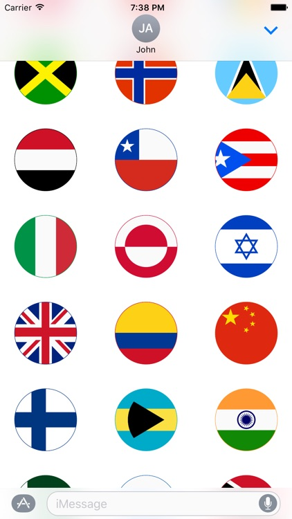 World Flag Stickers for iMessage screenshot-3