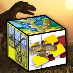 Kids dinosaur puzzles and number games
