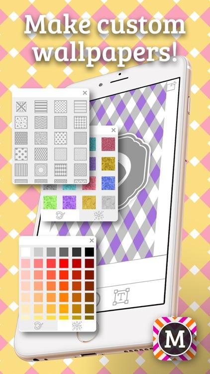 MonograMMing – Custom Wallpaper Maker with Monogram Sticker.s and Chevron Glitter Theme.s screenshot-3