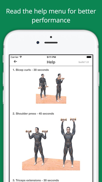 Upper Body Challenge Workout with dumbbells PRO screenshot-4
