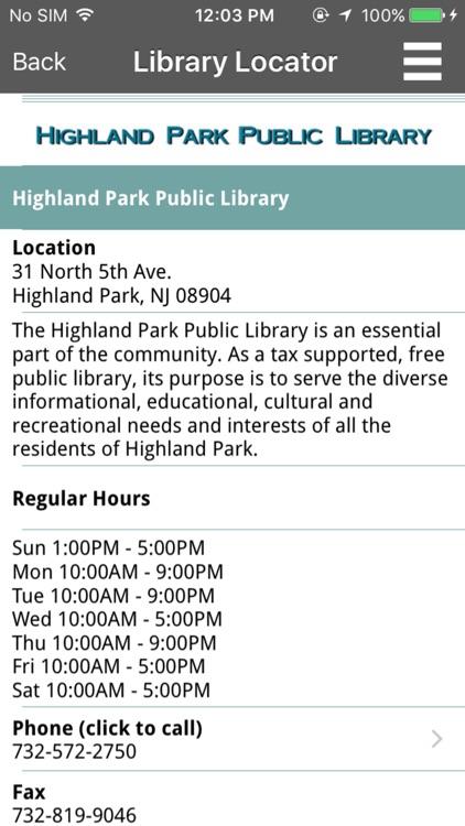 Highland Park Public Library Mobile screenshot-3