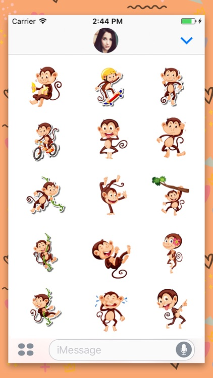 Animated Monkey: Chat Stickers