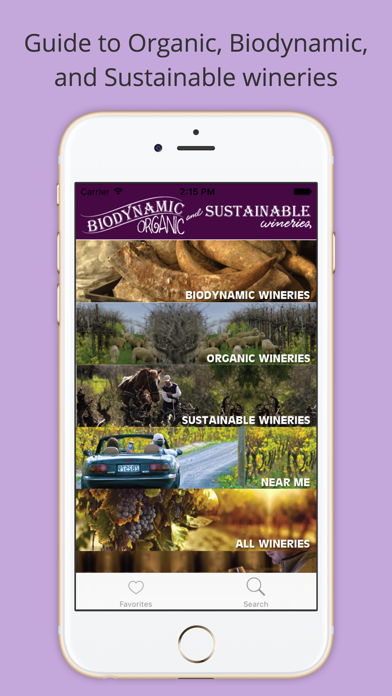 Organic, Biodynamic and Sustainable Wineries of CA Screenshot