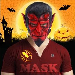 Halloween Monster Masks Photo Sticker Maker