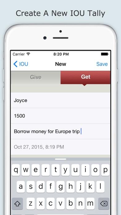 IOU (I Owe You)- Track Money by INEBAS CORPORATION (iOS, United