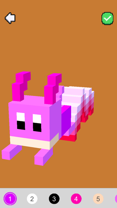Voxel Art 3D - Color by number screenshot two