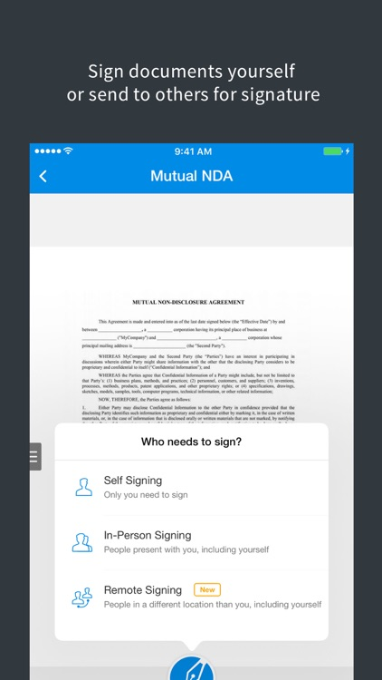 SignEasy - Sign and Fill PDF and other Documents screenshot-0