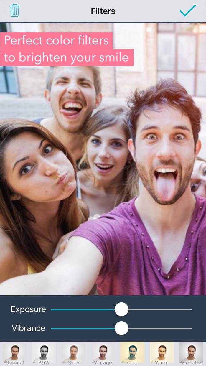 Selfie Editor: face tune photo Screenshot
