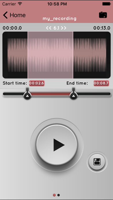 MP3 Cutter For iMovie screenshot two