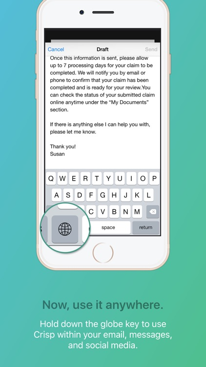 Crisp Email Template Keyboard screenshot-3