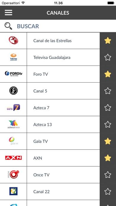 Screenshot for Programación TV México (MX) in Mexico App Store