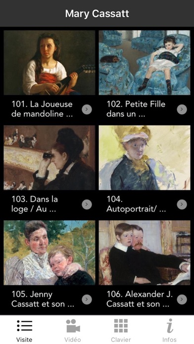 Screenshot #1 pour Exposition Mary Cassatt