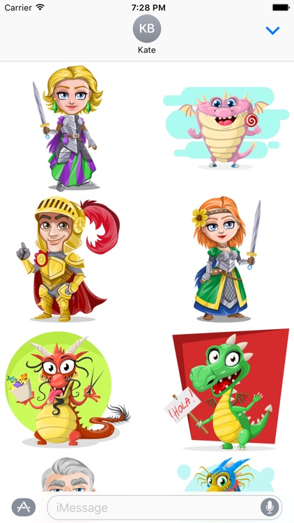 Knights and Dragons Stickers