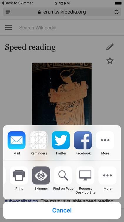 Skimmer - Speed Reading