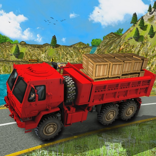 Truck Drive Cargo 3D icon