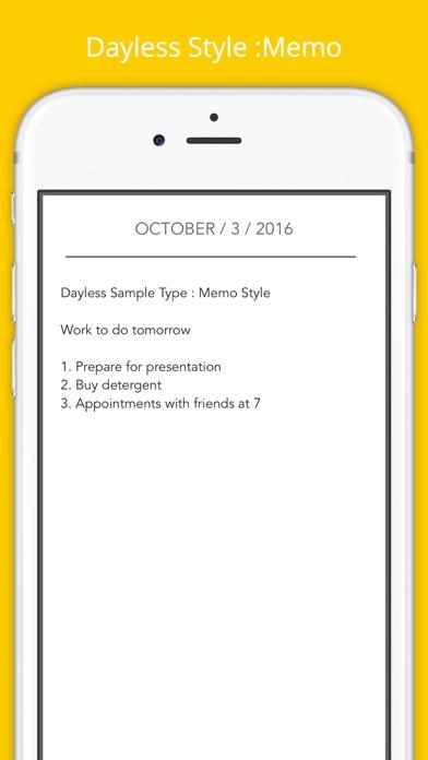 Dayless - Simple Diary App Screenshots