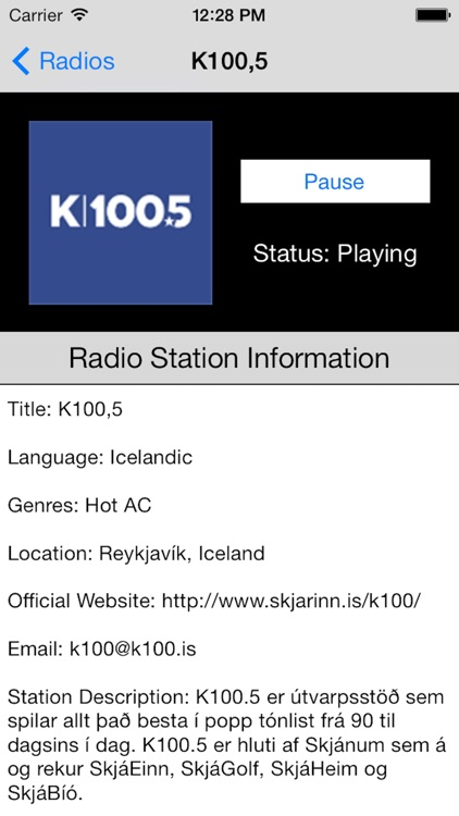 Iceland Radio Live Player (Icelandic, Ísland) screenshot-1