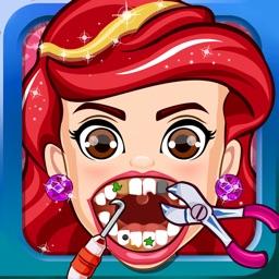 Princess Dentist Salon Doctor Girls Kids Games
