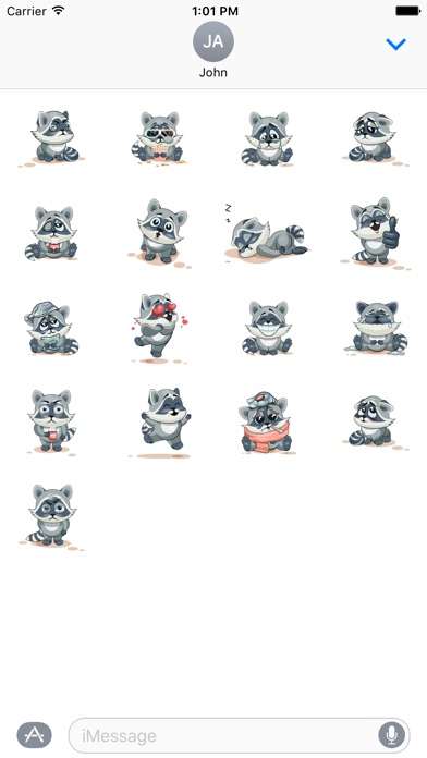 Raccoon StickersScreenshot von 3