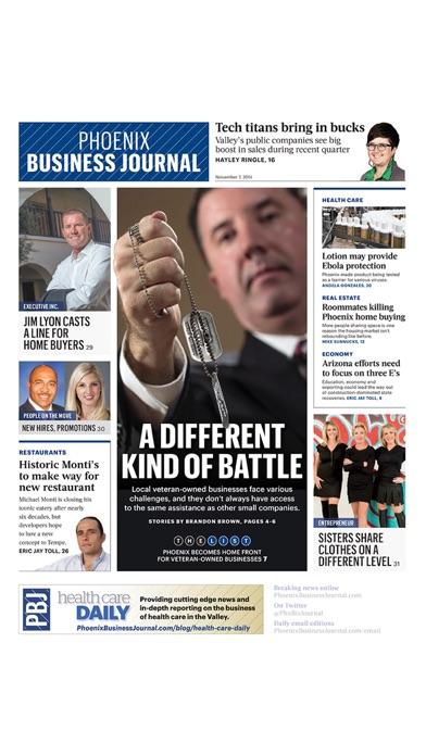 Phoenix Business Journal review screenshots