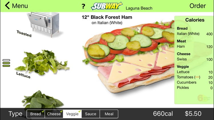 Subway Ordering  for California screenshot-0