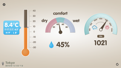 温湿度計 (体感温度,気圧計,不快指数) ScreenShot5