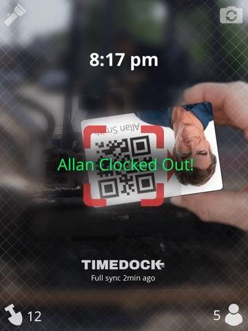 Screenshot of TimeDock