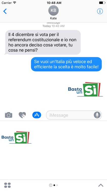 Basta un Sì sticker pack