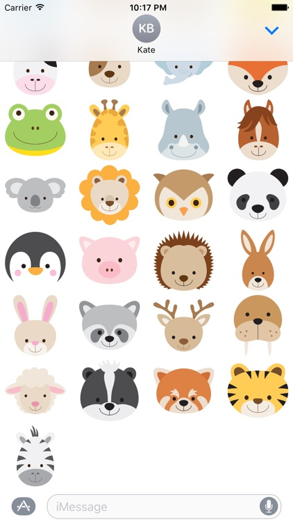 Cute Animals for Stickers