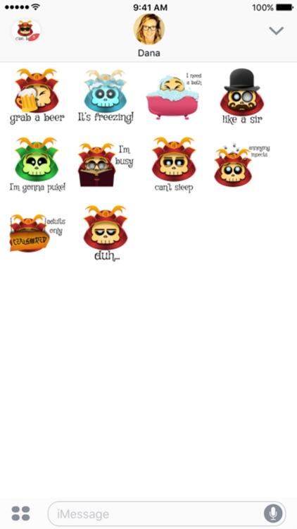 Cute Samurai Skull stickers by CandyA$$
