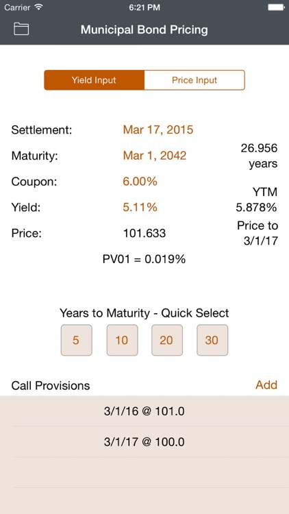 Municipal Bond Pricing screenshot-0