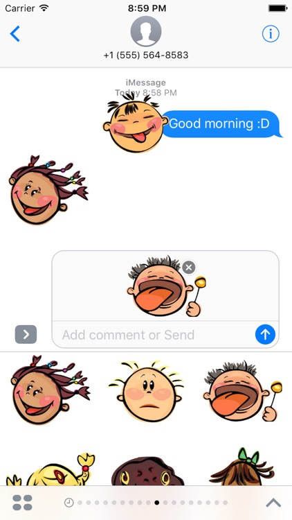 Emotion Face Sticker, Emoji - Fv Pack 01