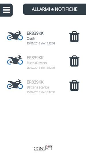 lojack batteria