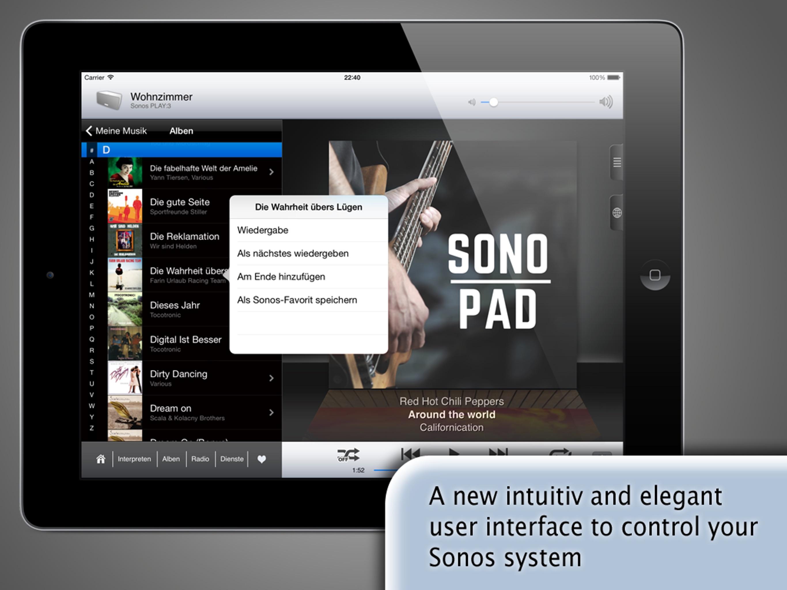 SonoPad for Sonos Screenshot