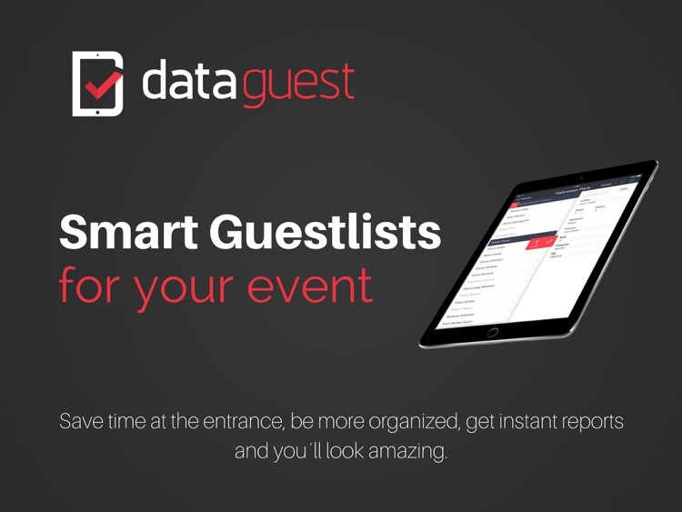DataGuest Guestlist App for Events screenshot-0