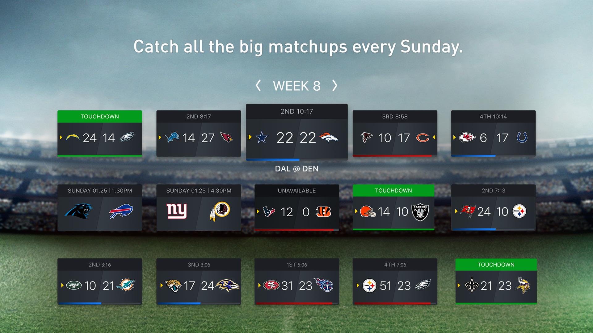 NFL SUNDAY TICKET for Apple TV screenshot 3