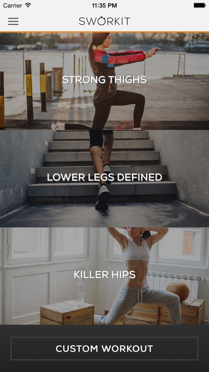 Lower Body Sworkit - Thigh, Hip, & Leg Workouts screenshot-0
