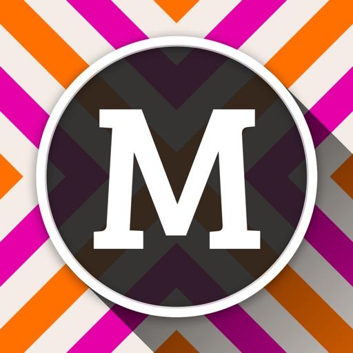MonograMMing Custom Wallpaper Maker With Monogram Stickers And Chevron Glitter Themes