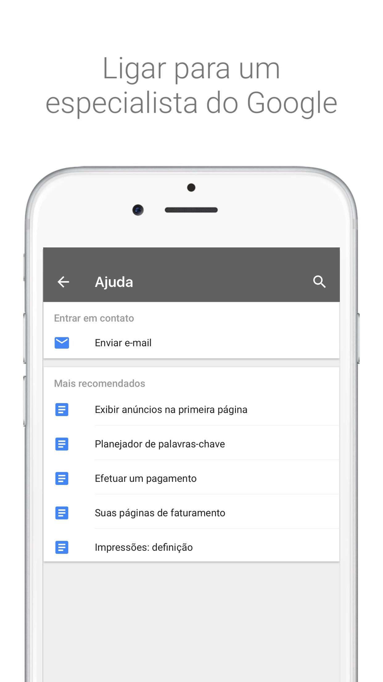 Screenshot do app AdWords