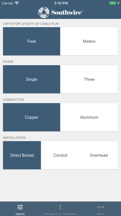Southwire voltage drop calc by southwire company southwire voltage drop calc greentooth Images