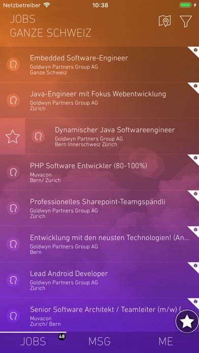 yooture JobsucheScreenshot von 1