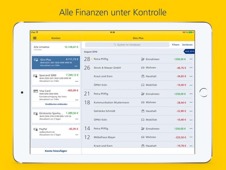 Postbank Finanzass. für iPad screenshot-1