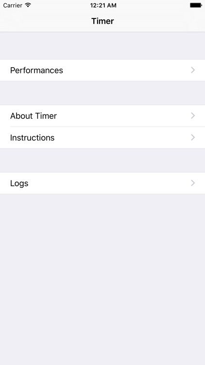 Timer with Sections