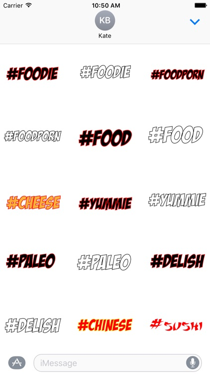 #Foodie-Hashtag Stickers for Food Lovers!
