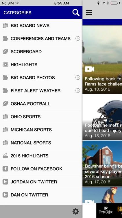 WTOL 11 Sports - Big Board screenshot-3