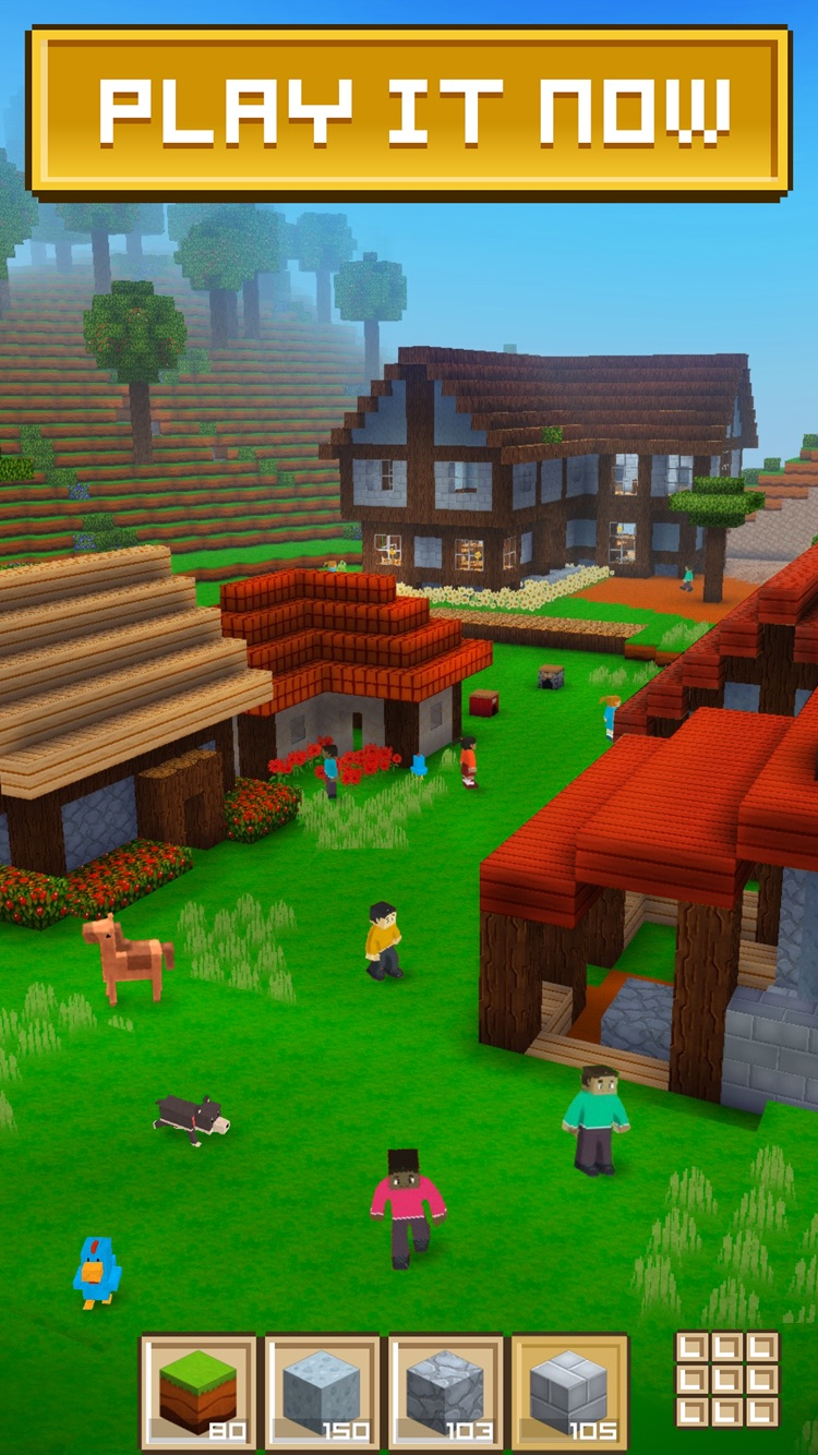Block craft 3d building simulator game for free by fun for Block craft play for free