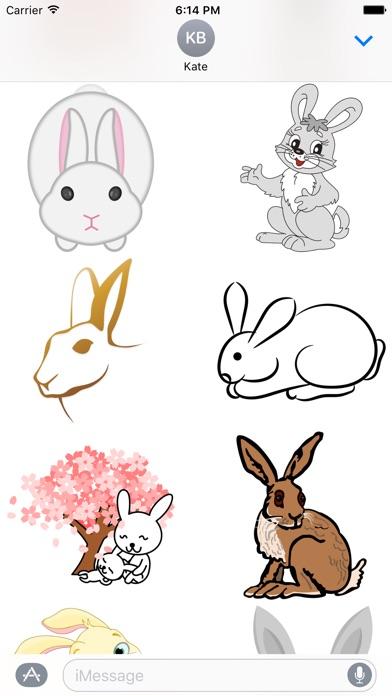 Rabbit Stickersのスクリーンショット1