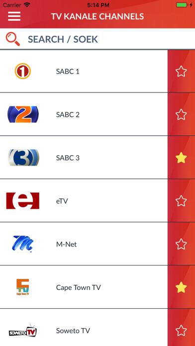 South Africa TV listings (ZA)