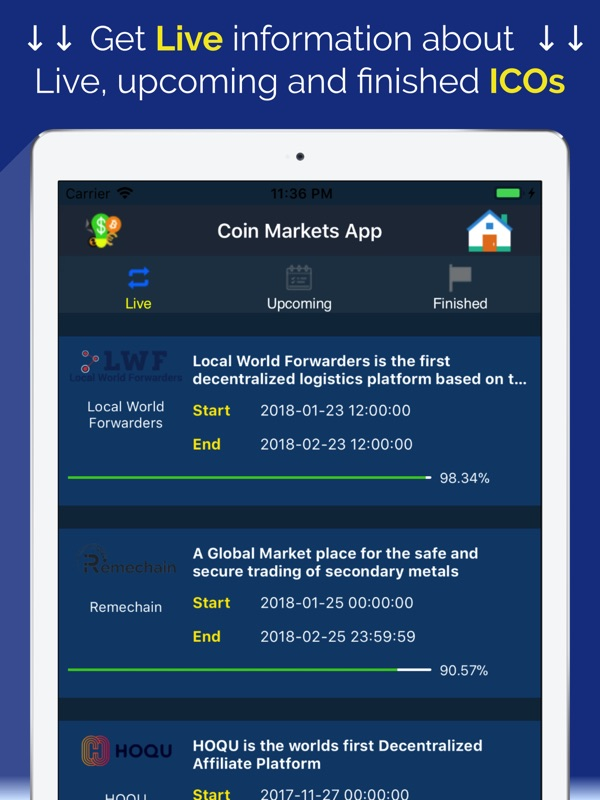 cryptocurrency price live app