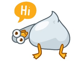 Up your texting game with playful animated stickers of Joe the Pigeon and add on accessories
